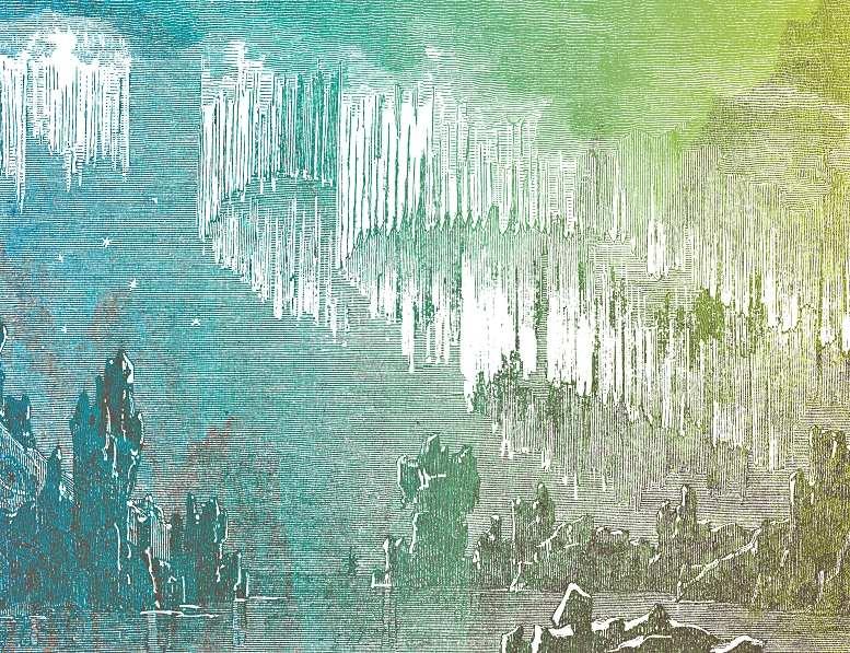 """Doppelseitige Illustration aus """"Die Regentrude"""", gestaltet von Judith Schalansky, © Judith Schalansky/Insel Verlag."""