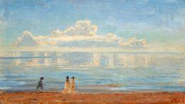 Laurits Tuxen: Spaziergänger am Strand von Skagen. 1922. Wikimedia Commons