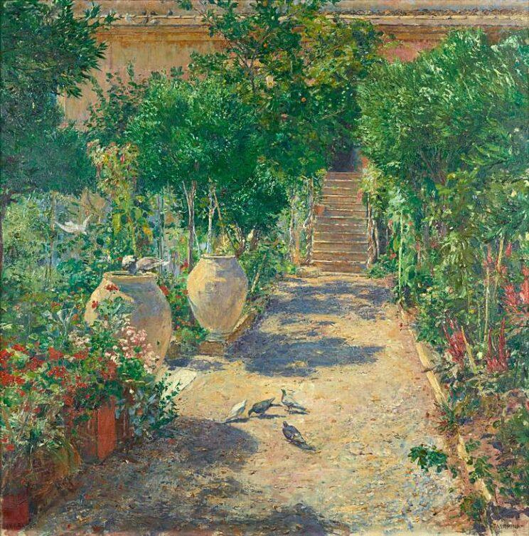 Johann Victor Krämer: Taormina im Sonnenschein. 1897. Belvedere, Wien