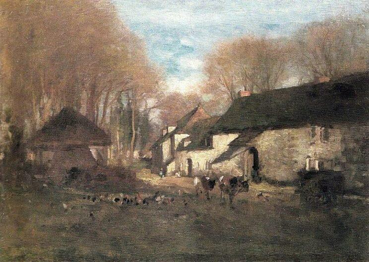 Nicolae Grigorescu: Bauernhof in Barbizon. Um 1864–1869. Wikimedia Commons