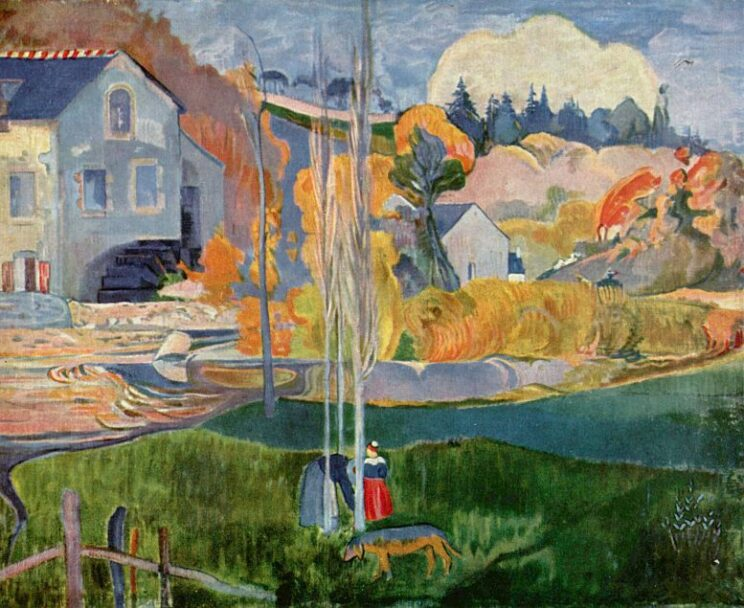 Paul Gauguin: Die David-Mühle in Pont-Aven. 1894. Wikimedia Commons
